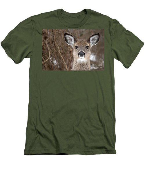 Deer Men's T-Shirt (Slim Fit) by Jeannette Hunt