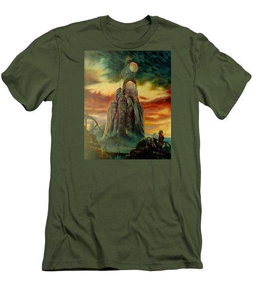 Defenders Of Rocky Desert Men's T-Shirt (Slim Fit) by Henryk Gorecki