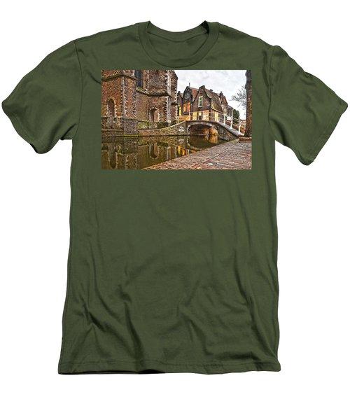 Delft Behind The Church Men's T-Shirt (Slim Fit) by Frans Blok