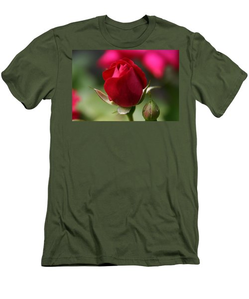 Men's T-Shirt (Slim Fit) featuring the photograph Delicate Opening  by Denyse Duhaime