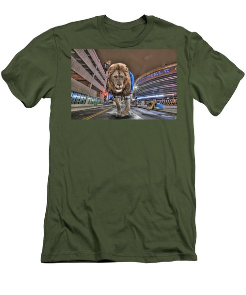 Detroit Lions At Ford Field Men's T-Shirt (Athletic Fit)