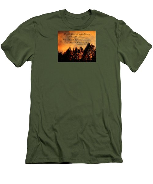 Deuteronomy The Lord Goes Before You Men's T-Shirt (Athletic Fit)