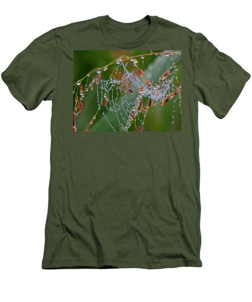 Men's T-Shirt (Slim Fit) featuring the photograph Dewdrop Inn by Dianne Cowen