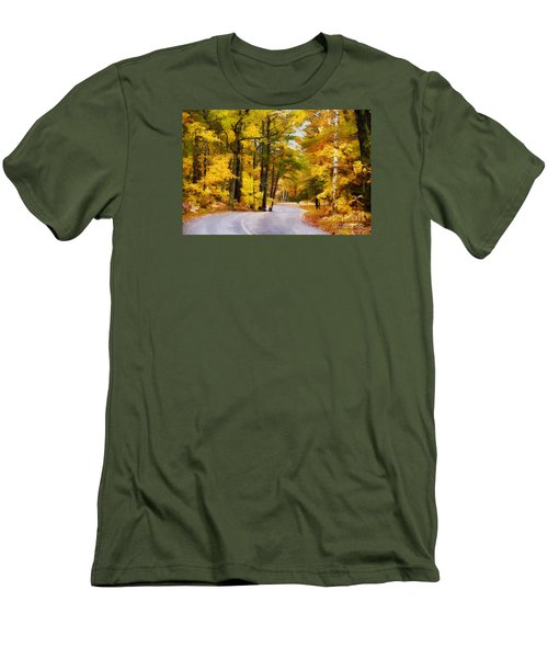 Men's T-Shirt (Athletic Fit) featuring the photograph Fall Colors by David Perry Lawrence