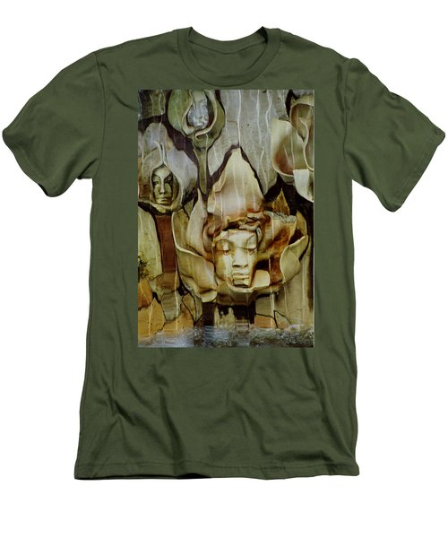 Distortion Men's T-Shirt (Slim Fit) by Penny Lisowski