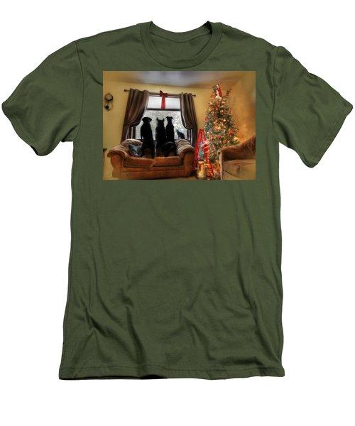 Do You Hear What I Hear Men's T-Shirt (Slim Fit) by Lori Deiter