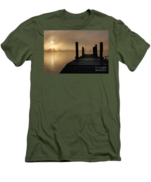 Dockside And A Good Morning Men's T-Shirt (Slim Fit) by Randy J Heath