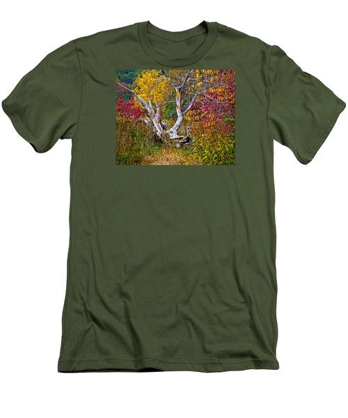 Men's T-Shirt (Slim Fit) featuring the digital art Dog Tree by Mary Almond