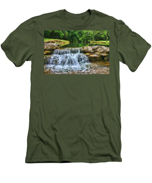 Dogwood Canyon Falls Men's T-Shirt (Athletic Fit)