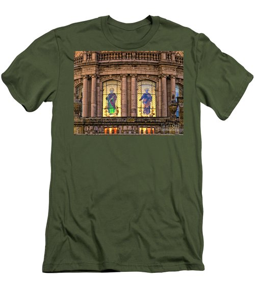 Men's T-Shirt (Athletic Fit) featuring the photograph Dome Grand Cathedral Of Guadalajara by David Perry Lawrence