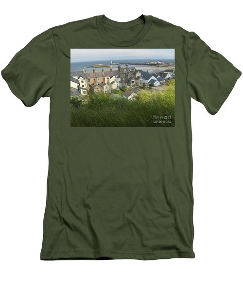 Men's T-Shirt (Slim Fit) featuring the photograph Donaghadee Northern Ireland View From The Moat by Brenda Brown