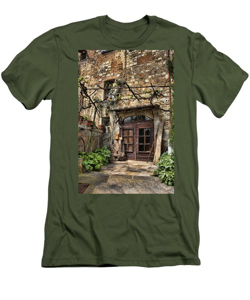 Men's T-Shirt (Slim Fit) featuring the photograph Door Montepulciano Italy by Hugh Smith
