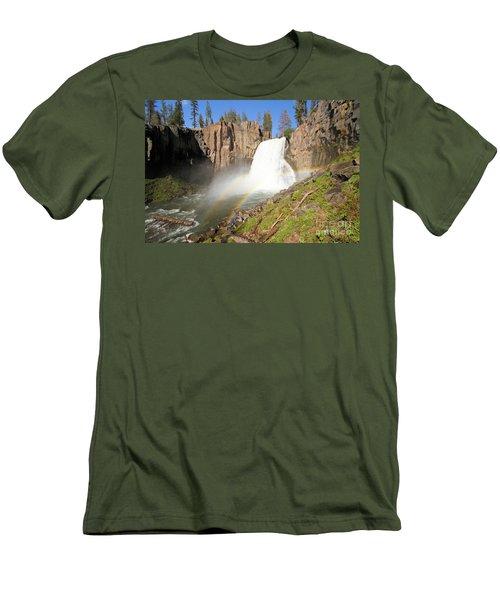 Double Rainbow Falls Men's T-Shirt (Slim Fit) by Adam Jewell