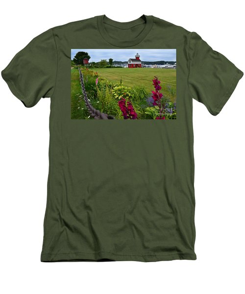 Douglas Lighthouse Water Tower Men's T-Shirt (Athletic Fit)