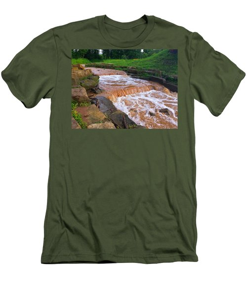 Men's T-Shirt (Slim Fit) featuring the photograph Down A Creek by Chris Tarpening