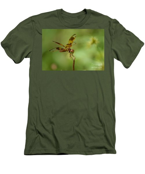Men's T-Shirt (Slim Fit) featuring the photograph Dragonfly 2 by Olga Hamilton