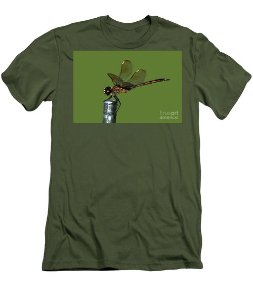 Men's T-Shirt (Slim Fit) featuring the photograph Dragonfly by Meg Rousher