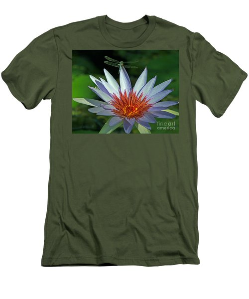 Dragonlily Men's T-Shirt (Slim Fit) by Larry Nieland