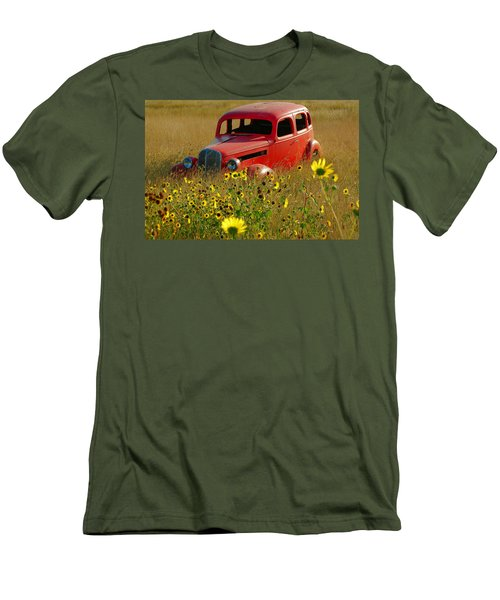 Men's T-Shirt (Slim Fit) featuring the photograph Dream Left Behind by Leticia Latocki