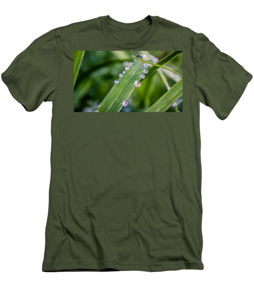 Drops On Grass Men's T-Shirt (Athletic Fit)