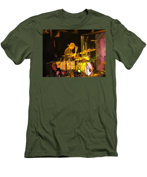 Drumer For Newsong Rocks Atlanta Men's T-Shirt (Slim Fit) by Aaron Martens