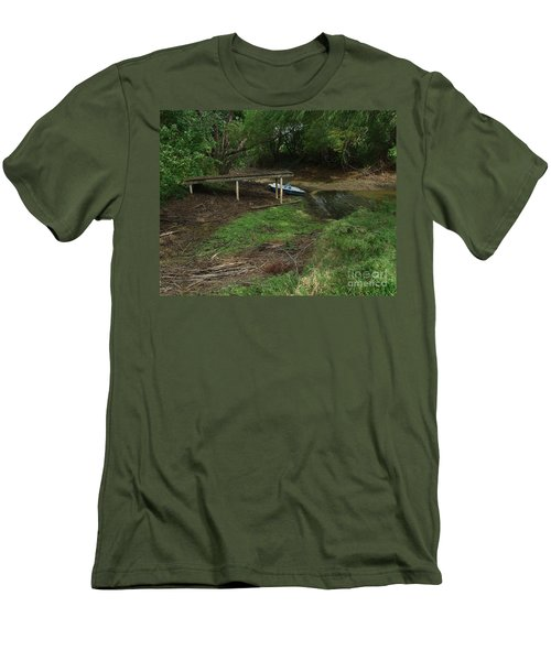 Men's T-Shirt (Slim Fit) featuring the photograph Dry Docked by Peter Piatt