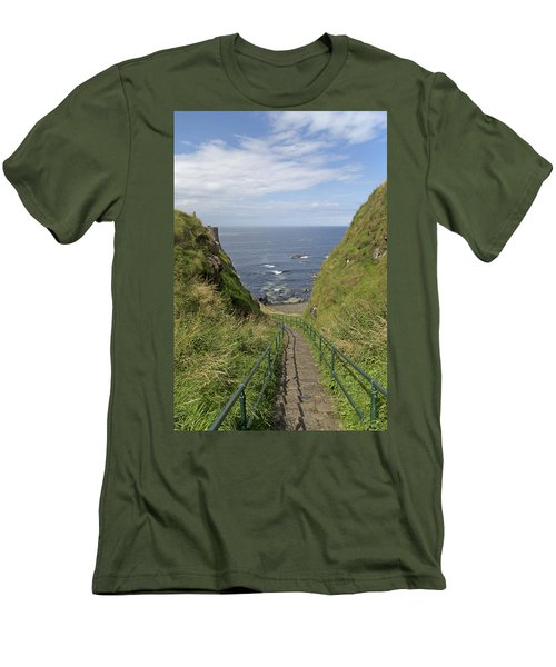 Dunluce Staircase Ireland Men's T-Shirt (Athletic Fit)