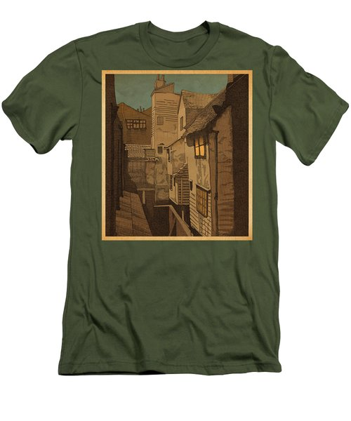 Men's T-Shirt (Slim Fit) featuring the drawing Dusk by Meg Shearer