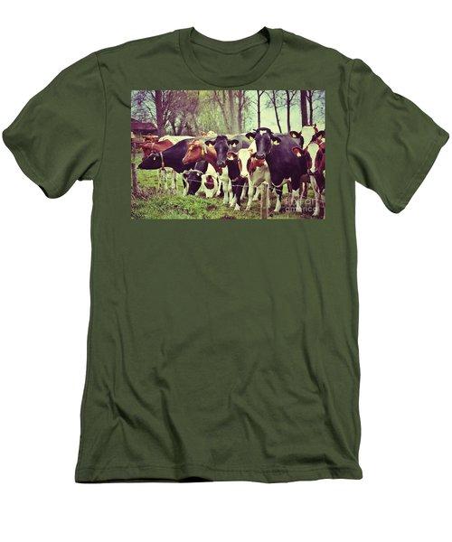 Men's T-Shirt (Slim Fit) featuring the photograph Dutch Cows by Nick  Biemans