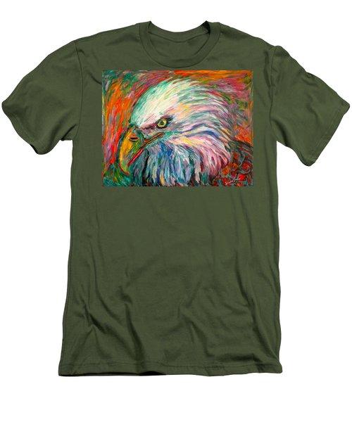 Eagle Fire Men's T-Shirt (Slim Fit) by Kendall Kessler