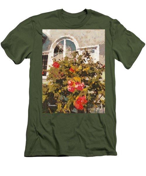 Alameda Roses Men's T-Shirt (Slim Fit) by Linda Weinstock