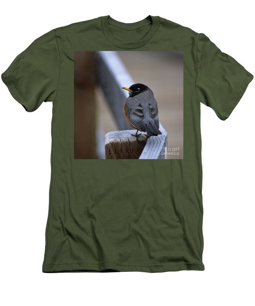 Men's T-Shirt (Slim Fit) featuring the photograph Early Bird by Sharon Elliott