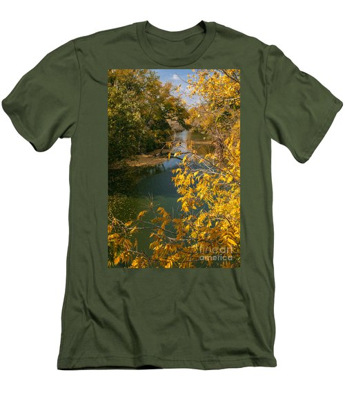 Early Fall On The Navasota Men's T-Shirt (Slim Fit) by Robert Frederick