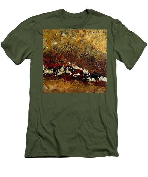 Men's T-Shirt (Slim Fit) featuring the painting Earth Abstract Four by Lance Headlee