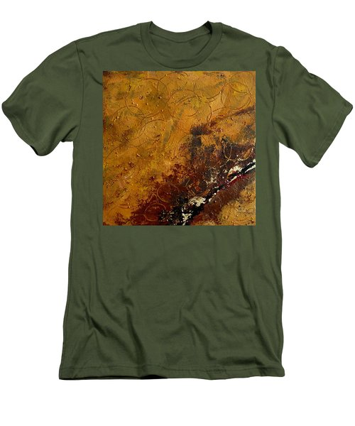 Men's T-Shirt (Slim Fit) featuring the painting Earth Abstract Two by Lance Headlee