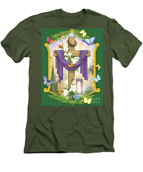 Easter Cross Men's T-Shirt (Slim Fit)