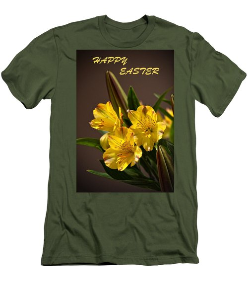 Easter Lilies Men's T-Shirt (Slim Fit) by Sandi OReilly