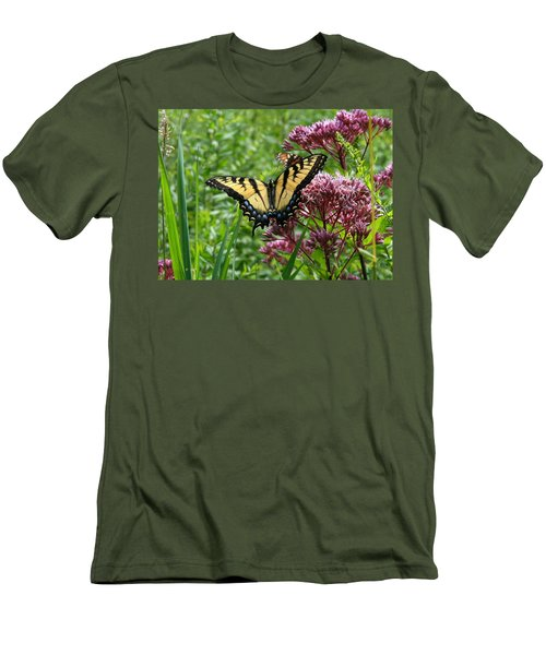 Eastern Tiger Swallowtail On Joe Pye Weed Men's T-Shirt (Slim Fit)