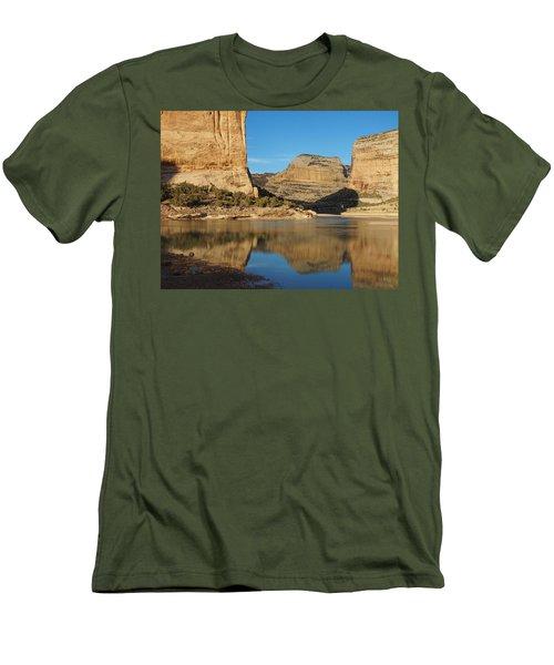 Echo Park In Dinosaur National Monument Men's T-Shirt (Slim Fit) by Nadja Rider