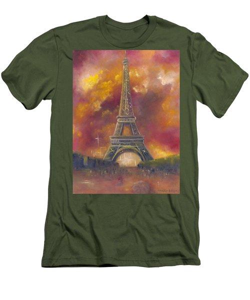 Eiffel Tower  Men's T-Shirt (Athletic Fit)