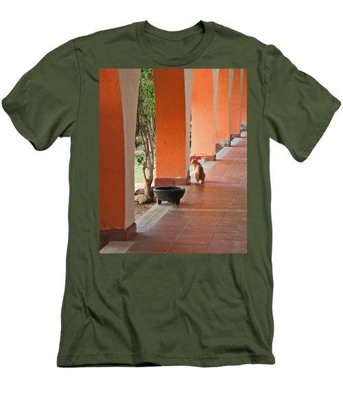 Men's T-Shirt (Slim Fit) featuring the photograph El Gato by Marcia Socolik
