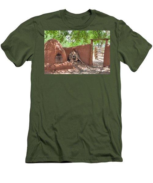 Men's T-Shirt (Slim Fit) featuring the photograph El Rancho De Las Golondrinas by Roselynne Broussard