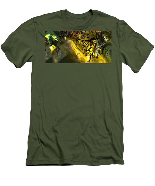 Men's T-Shirt (Slim Fit) featuring the digital art Elaboration Of Day Into Dream by Richard Thomas