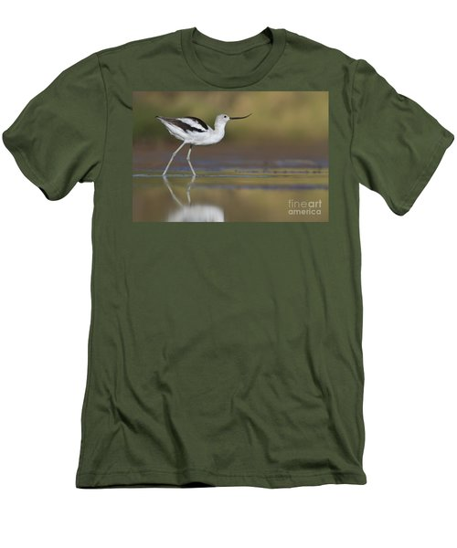 Elegant Avocet Men's T-Shirt (Athletic Fit)