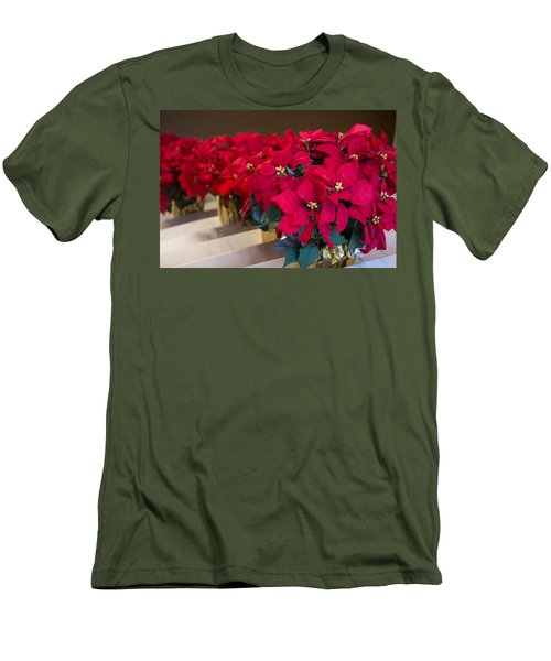 Elegant Poinsettias Men's T-Shirt (Athletic Fit)