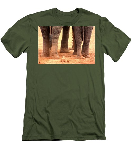 Men's T-Shirt (Slim Fit) featuring the photograph Elephant Family by Amanda Stadther