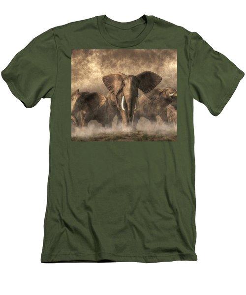 Elephant Stampede Men's T-Shirt (Athletic Fit)