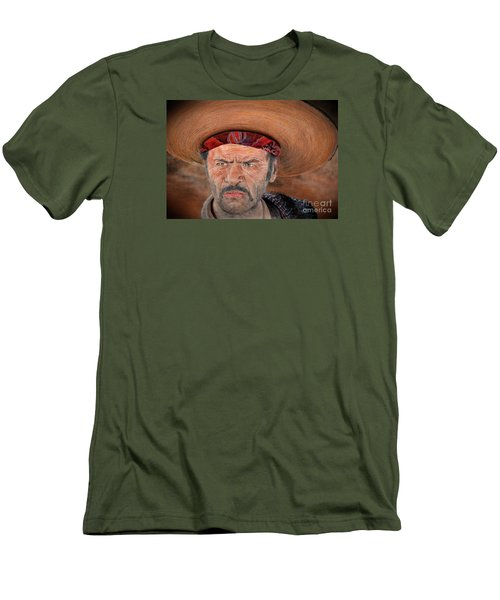 Eli Wallach As Tuco In The Good The Bad And The Ugly Version II Men's T-Shirt (Slim Fit) by Jim Fitzpatrick