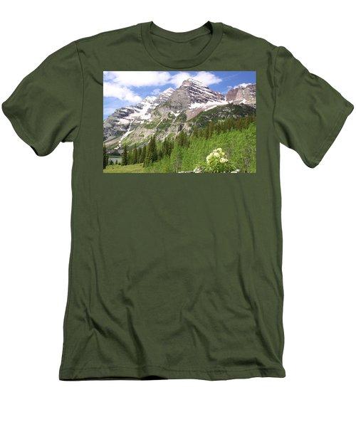 Elk Mountains Men's T-Shirt (Slim Fit) by Eric Glaser