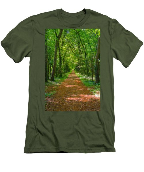 Endless Trail Into The Forest Men's T-Shirt (Athletic Fit)